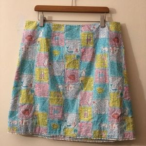 VINTAGE Lilly Pulitzer Horoscope Print Mini Skirt
